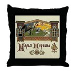 Russian Folk Art Throw Pillow