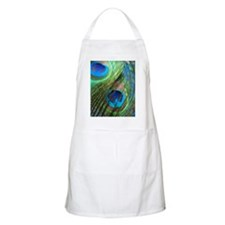 two blue peacock square Apron
