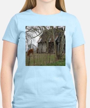antique barn And Cows T-Shirt