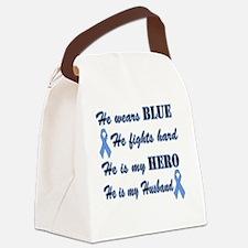 He is Husband Lt Blue Hero Canvas Lunch Bag