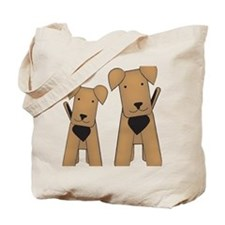 airedales_cafepress Tote Bag