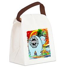 polar bear oops lost Canvas Lunch Bag