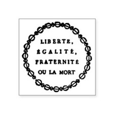 "ART French Revolution 1 Square Sticker 3"" x 3"""