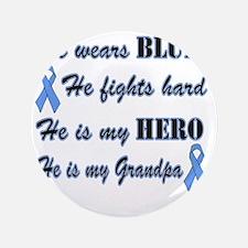 "He is Grandpa Lt Blue Hero 3.5"" Button"