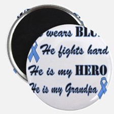 He is Grandpa Lt Blue Hero Magnet