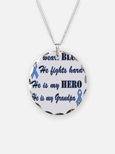 He is Grandpa Lt Blue Hero Necklace