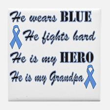 He is Grandpa Lt Blue Hero Tile Coaster