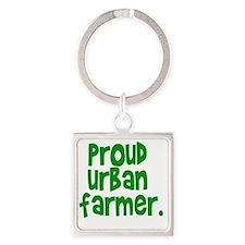 urbanfarmer01 Square Keychain