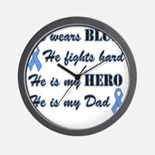 He is Dad Lt Blue Hero Wall Clock
