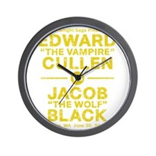 edward-vs-jacob_gold_ds5 Wall Clock