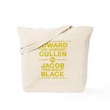 edward-vs-jacob_gold Tote Bag
