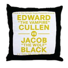 edward-vs-jacob_gold Throw Pillow