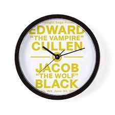 edward-vs-jacob_gold Wall Clock