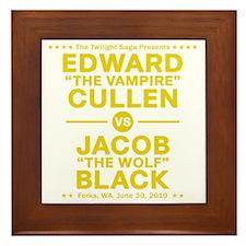 edward-vs-jacob_gold Framed Tile