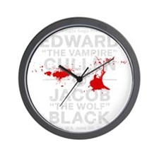 edward-vs-jacob_silver_bl3 Wall Clock