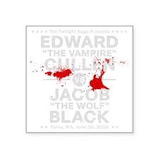 "edward-vs-jacob_silver_bl3 Square Sticker 3"" x 3"""