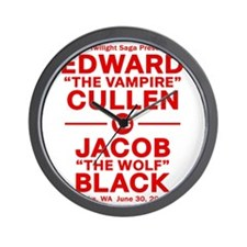 edward-vs-jacob_red Wall Clock