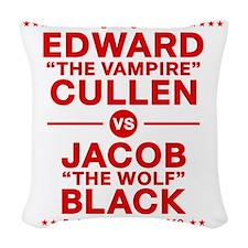 edward-vs-jacob_red Woven Throw Pillow