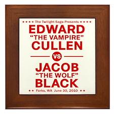 edward-vs-jacob_red Framed Tile