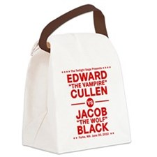 edward-vs-jacob_red Canvas Lunch Bag