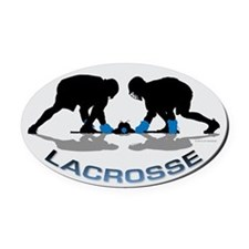 Lacrosse 36 Oval Car Magnet