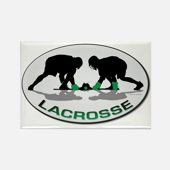 Lacrosse 35 Rectangle Magnet