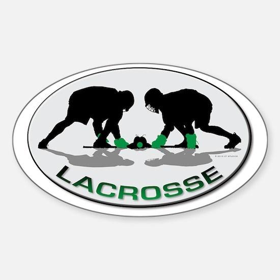 Lacrosse 35 Sticker (Oval)
