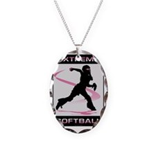 Softball 40 Necklace Oval Charm