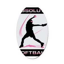 Softball 42 Oval Car Magnet