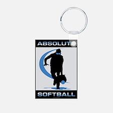 Softball 46 Aluminum Photo Keychain