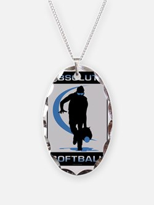 Softball 46 Necklace Oval Charm