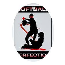 Softball 28 Oval Ornament