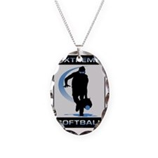 Softball 24 Necklace Oval Charm