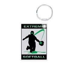 Softball 35 Aluminum Photo Keychain