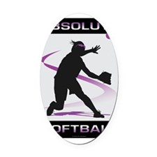 Softball 36 Oval Car Magnet