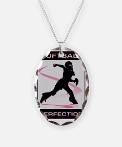 Softball 29 Necklace Oval Charm