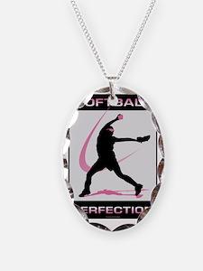 Softball 23 Necklace Oval Charm
