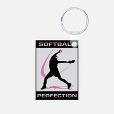 Softball 23 Aluminum Photo Keychain