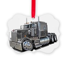 Kenworth w900 Grey Truck Ornament