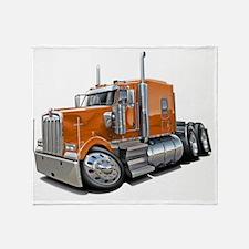 Kenworth w900 Orange Truck Throw Blanket