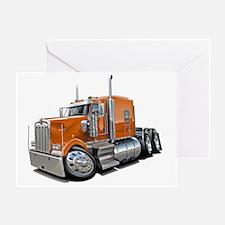 Kenworth w900 Orange Truck Greeting Card