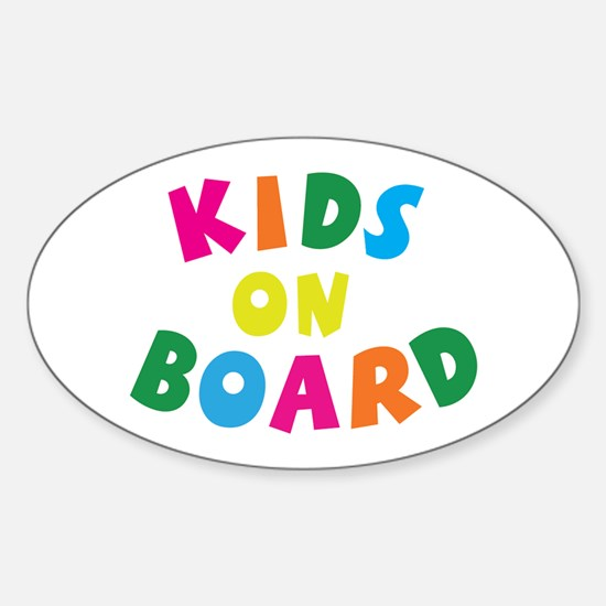 Kids on Board Oval Decal