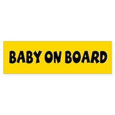 Baby On Board Yellow Bumper Bumper Sticker