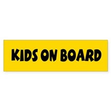 Kids On Board Yellow Bumper Stickers