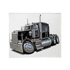 Kenworth w900 Black Truck Throw Blanket