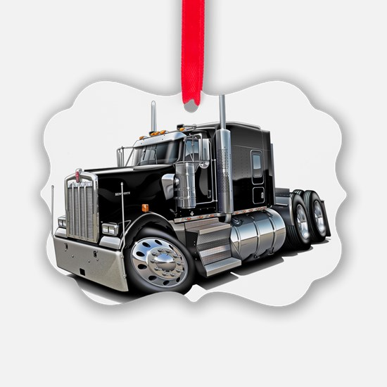 Kenworth w900 Black Truck Ornament