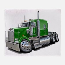 Kenworth w900 Green Truck Throw Blanket