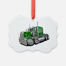 Kenworth w900 Green Truck Ornament