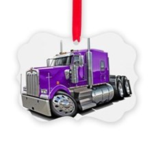 Kenworth w900 Purple Truck Ornament