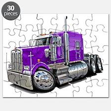 Kenworth w900 Purple Truck Puzzle